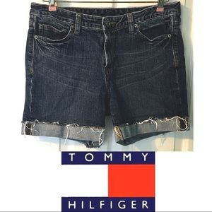 Tommy Hilfiger Cutoffs Jean Shorts 10 Blue